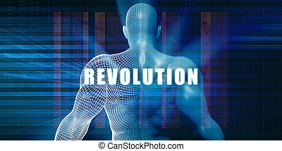Revolution as a Futuristic Concept Abstract Background