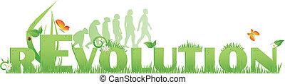 revolution, grün