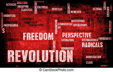 Revolution in Political or Technical Concept Art