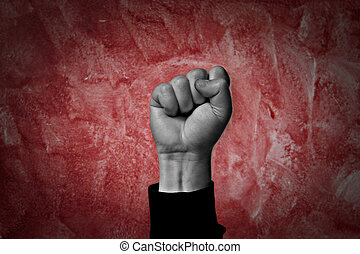 revolution - clenched fist held high in protest