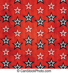 revolution stars seamless pattern with grunge effect
