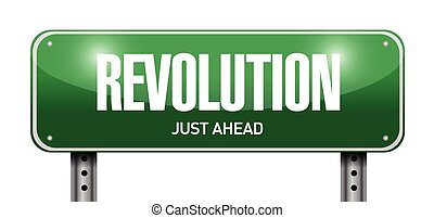 revolution street sign illustration