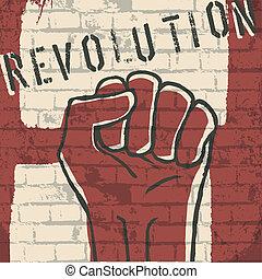revolution!, vecteur, eps10, illustration