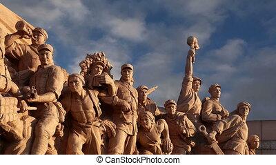 revolutionair, beijing, standbeelden