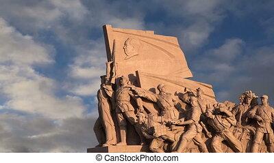 Revolutionary statues in Beijing - Revolutionary statues at...
