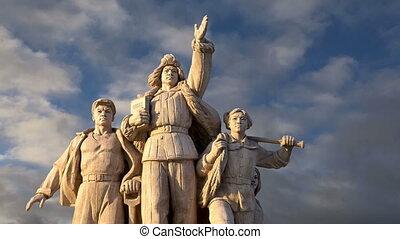 Revolutionary statues in Beijing