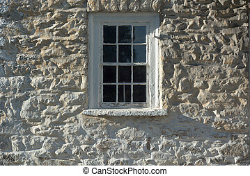 Revolutionary War Barracks Detail with Window in Frederick...
