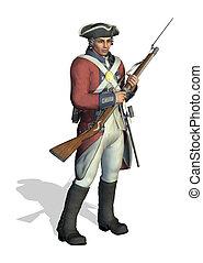Revolutionary War Soldier - 3D render depicting a soldier...