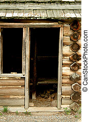 Revolutionary War troop cabins - A Revolutionary War troop...