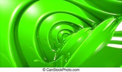 revolve, glare, green