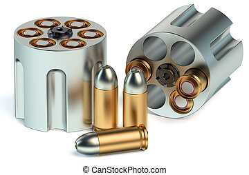 Revolver Cylinder with bullets