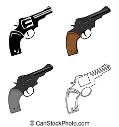 Revolver icon cartoon. Singe western icon from the wild west...