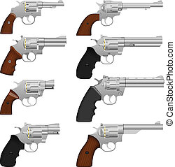 Revolver - Layered vector illustration of collected...