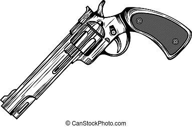 revolver - Abstract vector illustration revolver