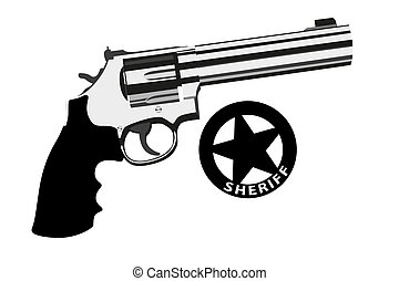 Revolver magnum - Vector revolver magnum on white background...