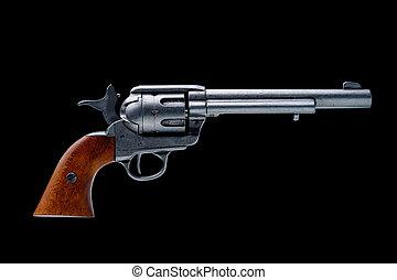 revolver, pistole, freigestellt