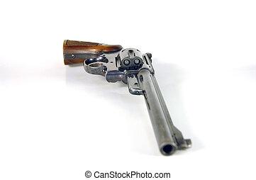 Revolver - Loaded revolver on its side