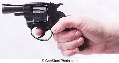 revolver - A revolver in human hands