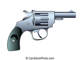 revolver - vector - Image of the fire-arm - colt - vector