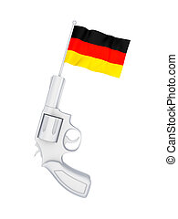 Revolver with a flag of Germany.