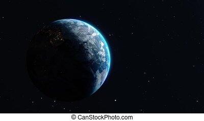 Revolving around the earth