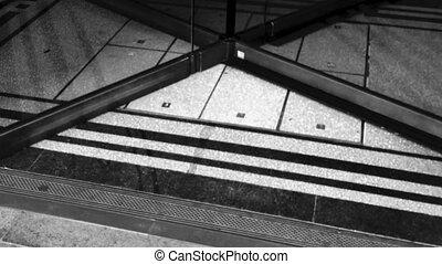 Revolving door - Slow motion of a large revolving door allow...