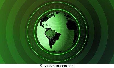 Revolving Globe HD Loop