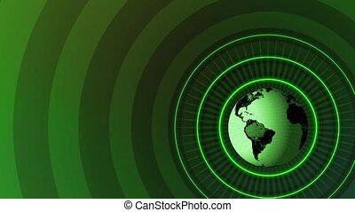Revolving Globe Title HD Loop