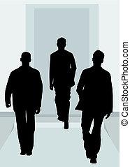 revue, mode, silhouette