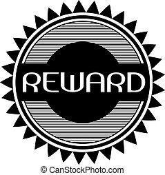 Reward black stamp on white background