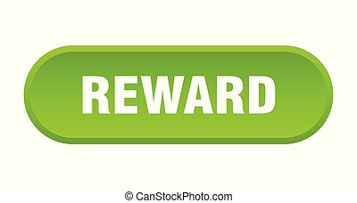 reward button. reward rounded green sign. reward