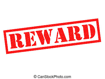 REWARD red Rubber Stamp over a white background.