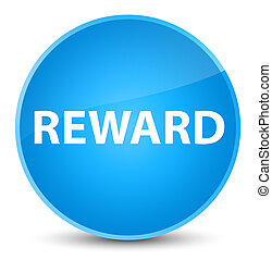 Reward elegant cyan blue round button