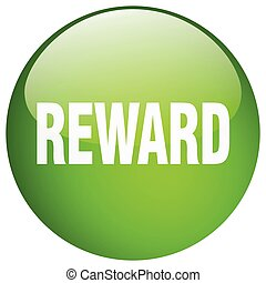 reward green round gel isolated push button