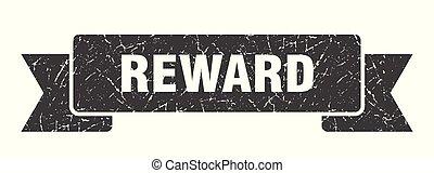 reward grunge ribbon. reward sign. reward banner