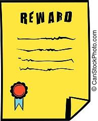 Reward icon, icon cartoon