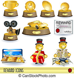 Reward Icons - Collection of 10 different reward icons,...