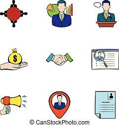 Reward icons set, cartoon style
