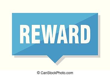 reward price tag - reward blue square price tag