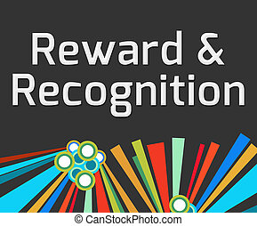Reward Recognition Dark Colorful Elements - Reward and...