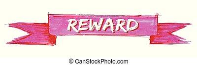 reward ribbon - reward hand painted ribbon sign