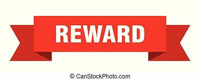 reward ribbon. reward isolated sign. reward banner