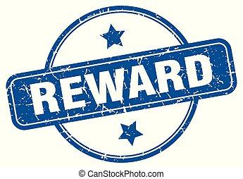 reward round grunge isolated stamp