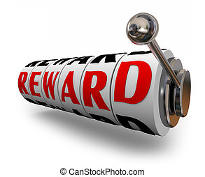 Reward Slot Machine Dials Prize Jackpot Betting Winner