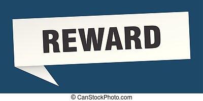 reward speech bubble. reward sign. reward banner
