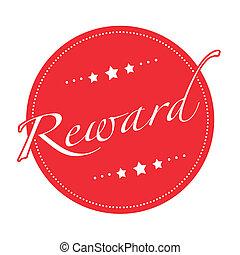 reward stamp - reward grunge stamp with on vector...