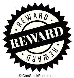 Reward stamp on white