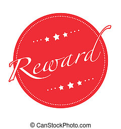 reward stamp - reward grunge stamp with on vector...