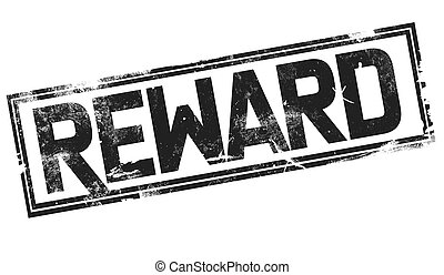 Reward word with black frame