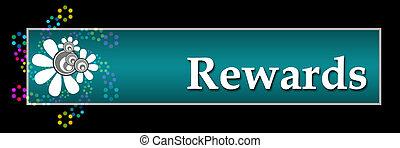 Rewards Black Neon Horizontal - Rewards text written over...